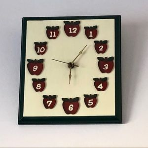 Apple Wall Clock - Batteries Not Included
